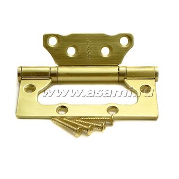Петли универсальные накладные 100х75х2,5мм SB (мат.золото)