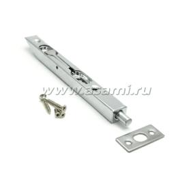 Шпингалет торцевой LX-160 CP сталь (хром)