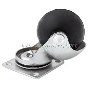 Колесн.опора шаров.резин 38 мм M-9906 BP