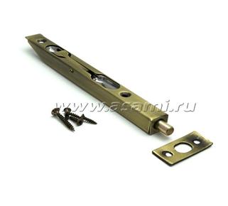 Шпингалет торцевой LX-160 АВ сталь (стар.бронза)