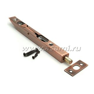 Шпингалет торцевой LX-200 АС сталь (стар.медь)
