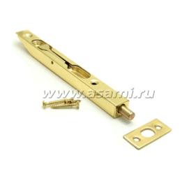 Шпингалет торцевой LX-200 GP сталь (золото)