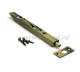 Шпингалет торцевой LX-200 АВ сталь (стар.бронза)