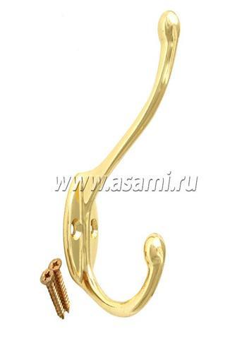 Крючок двойной М-11B вертикальный(золото)