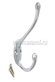 Крючки двойные М-11CP вертикальные(хром)
