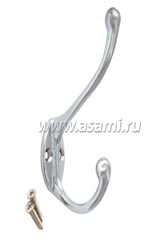 Крючок двойной М-11CP вертикальный(хром)