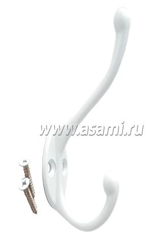Крючок двойной М-11W вертикальный(белый)