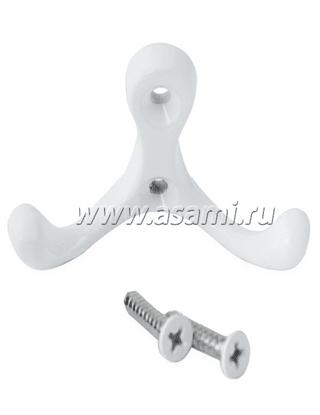 Крючок двойной М-14WW горизонтальный(белый)