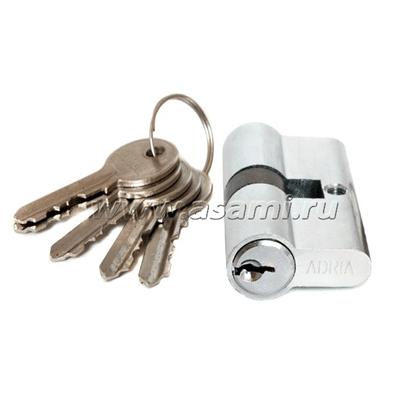 Цилиндровые механизмы для замка (личинка) 60мм 5кл хром(кл-кл)