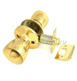 Ручка-защелка 590 BK РВ золото