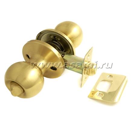 Ручка-защелка 6072 BK SB мат золото