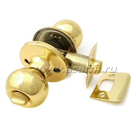 Ручки-защелки 6072 BK РВ золото