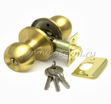 Ручка-защелка 6072 ET SB мат золото