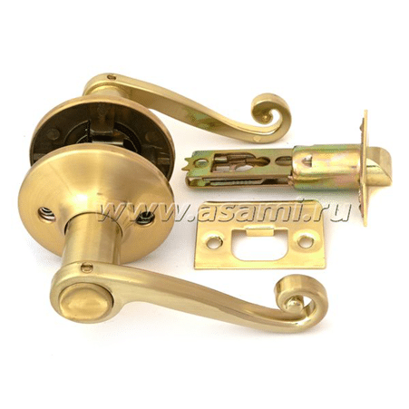 Ручка-защелка 830 BK SB мат золото