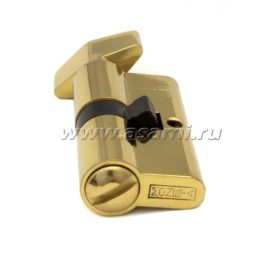 Цилиндрический механизм 60мм М-2003 PB без ключа золото