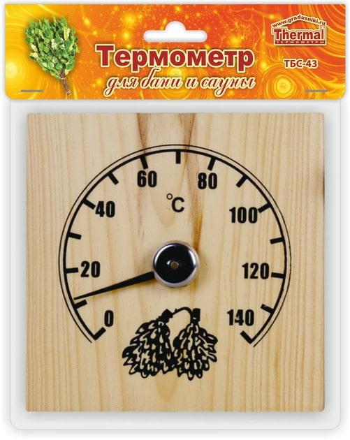 Термометр ТБС-43 д/сауны Квадрат